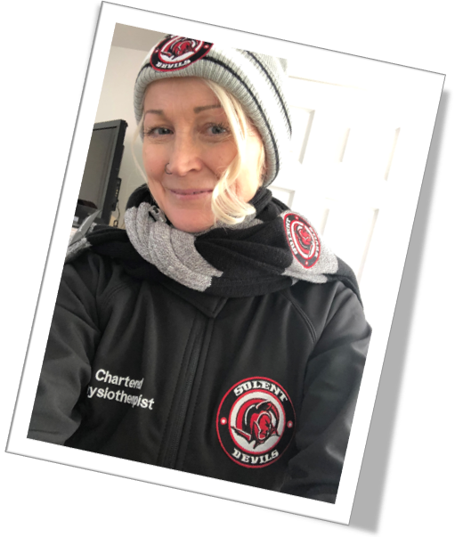 Denise Physiotherapist to the Solent Devils